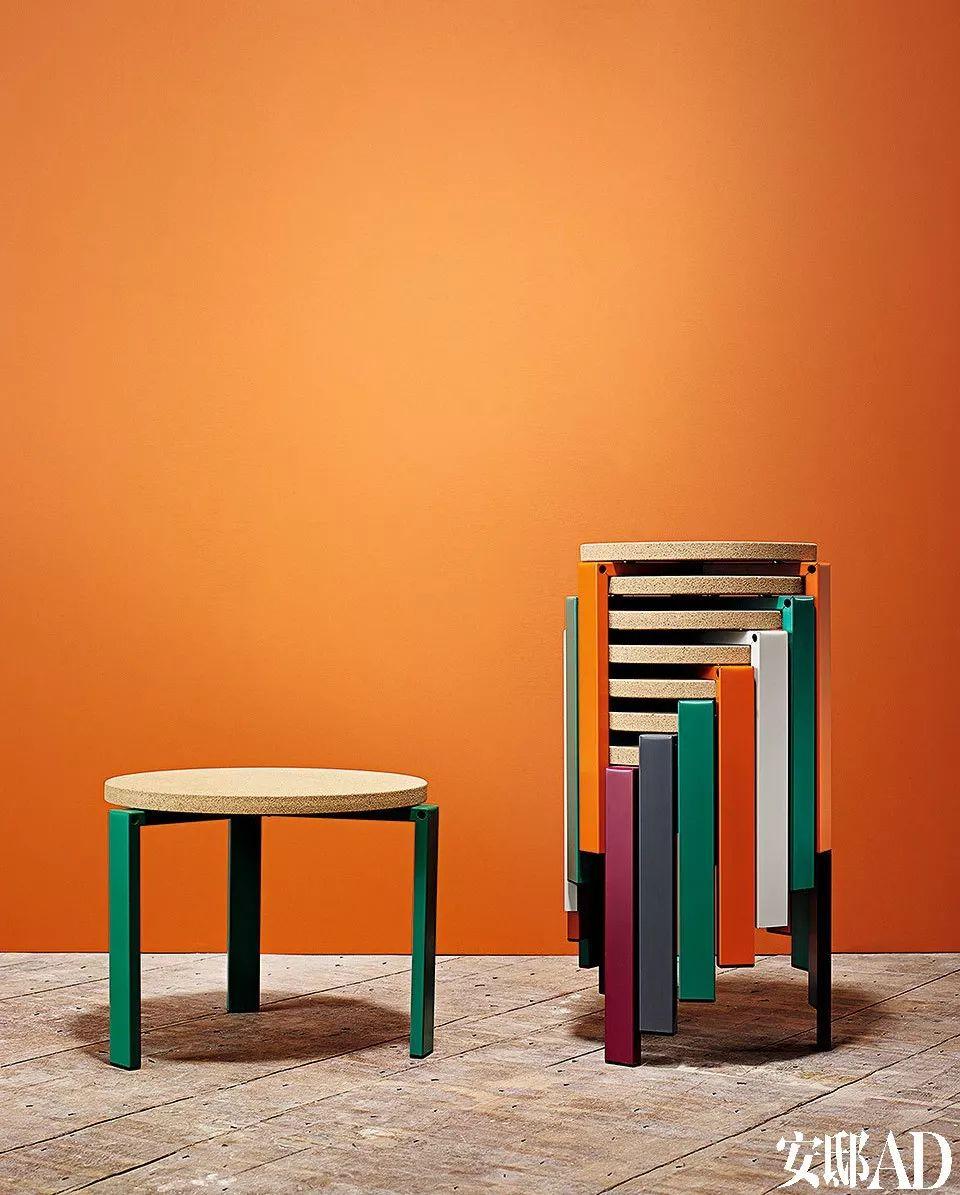 几何形态的家具设计,可以诠释极简主义,亦能应对浓艳的波普,赋予空间