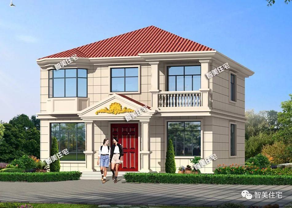 <b>11×14米农村别墅,客厅挑空内配5卧室,功能全生活便利</b>