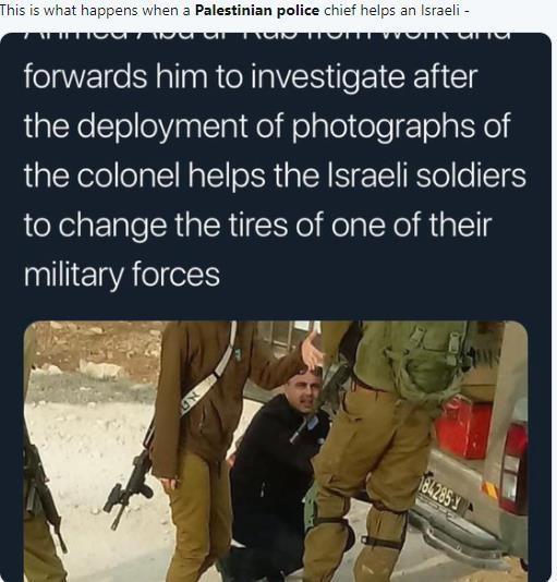 哈马斯正射火箭弹 巴勒斯坦警长却在帮以军修车