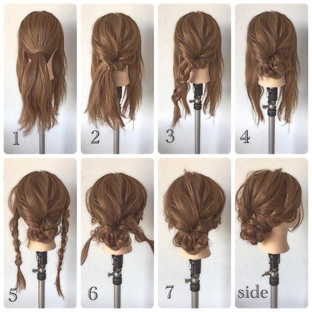 简单的编发图解,照这编就能编出漂亮的发型