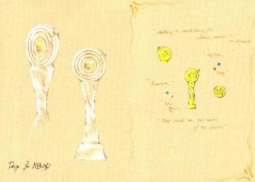 亚洲音乐盛典专属奖杯手绘图