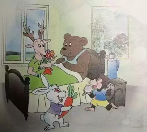 小猴妈妈生病了简笔画