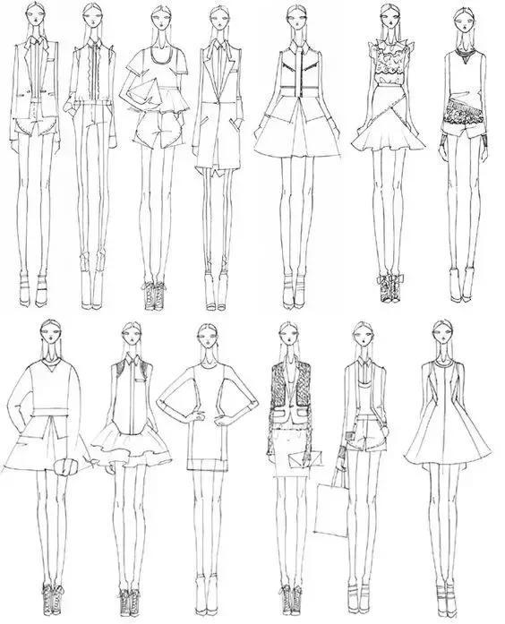 漂亮的服装效果图该怎么画?从线条开始!