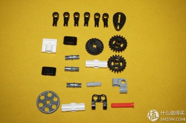 烧脑的机械传动组装模型-米兔工程吊车积木评测