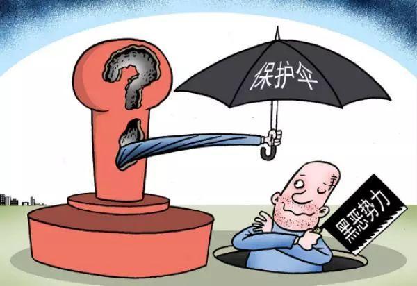 非法获利,充当黑恶势力保护伞.