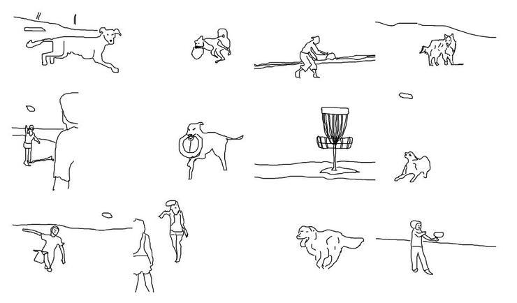 新的快速图像转手绘方法,人类水准 户外场景