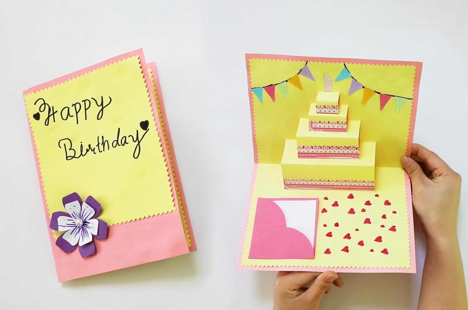 贺卡系列,教你动手diy一款漂亮的生日贺卡