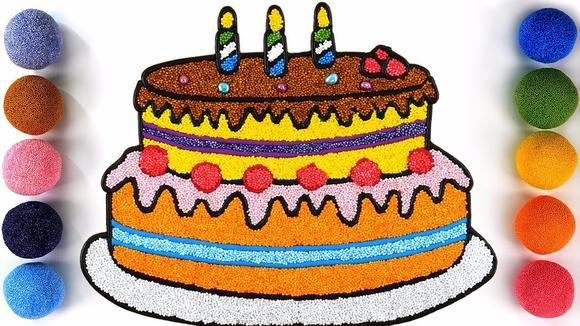 趣味手工,用泡沫粘土给蛋糕着色,太好玩了!