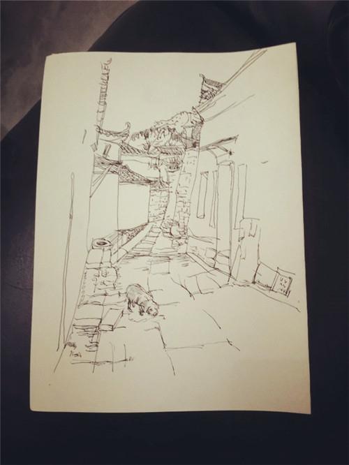 钢笔风景画(其实是因为水彩画不下去了hhhh)