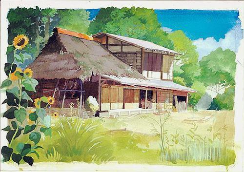 看看这些水彩画的风景图,是否在宫崎骏电影中见过呢?