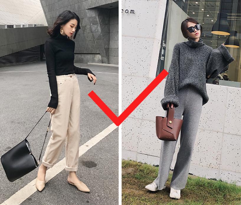 秋冬流行三款裤子一款比一款时髦显瘦非常适合小个子女生穿搭