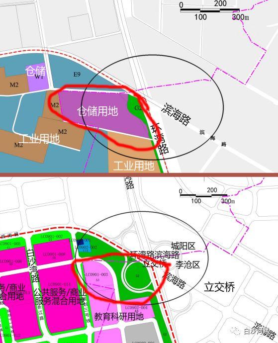 """根据青岛市规划近日发布的 李沧区与城阳区交界位置的""""星河湾南片区"""