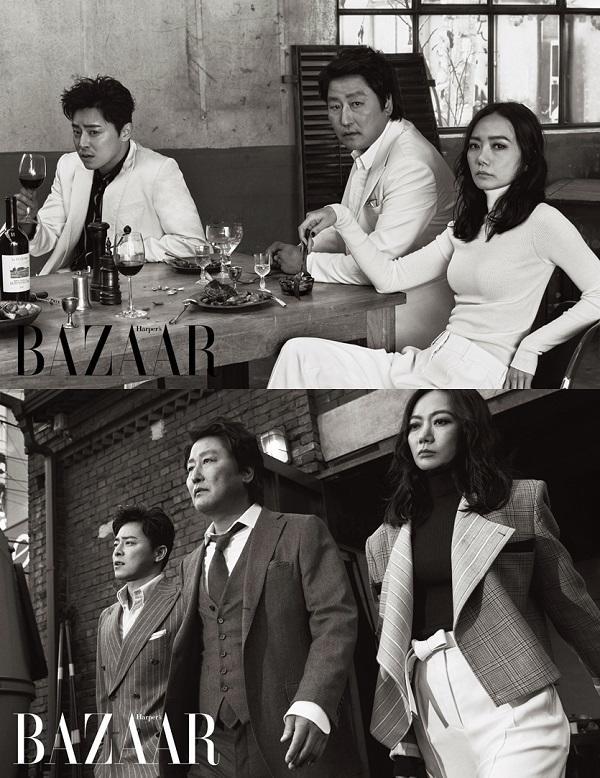 宋康昊《麻药王》复古大片曝光 展70年代奢华时尚