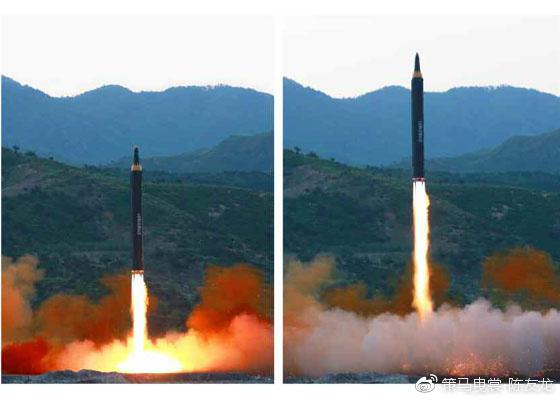 """""""火星""""-12(美国编号为KN-17)是""""火星""""-14导弹的技术基础"""
