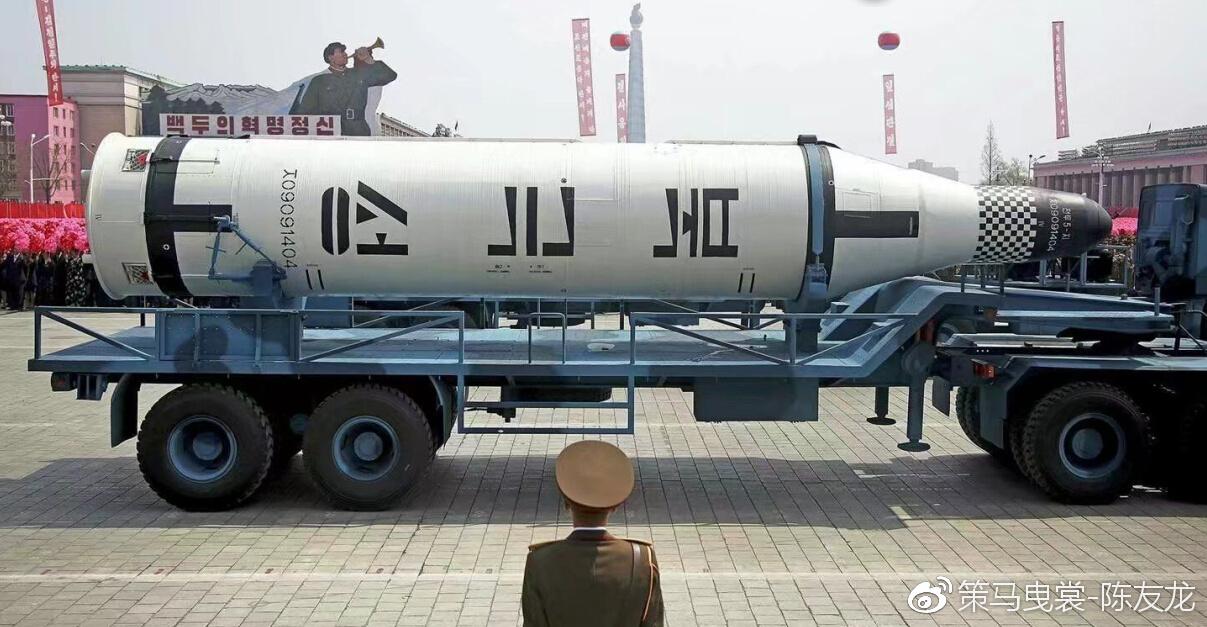朝鲜在掌握火星11导弹固体发动机技术后,继续改进,制造出了新型北极星系列固体导弹