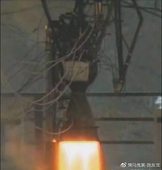 伊朗公布的劳动导弹火箭发动机测试照
