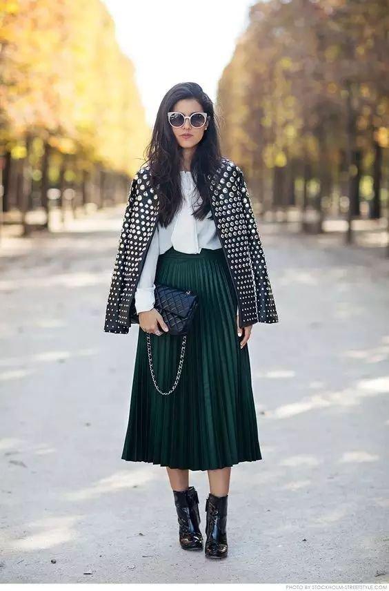 冬天穿裙子也可以很好看啊!