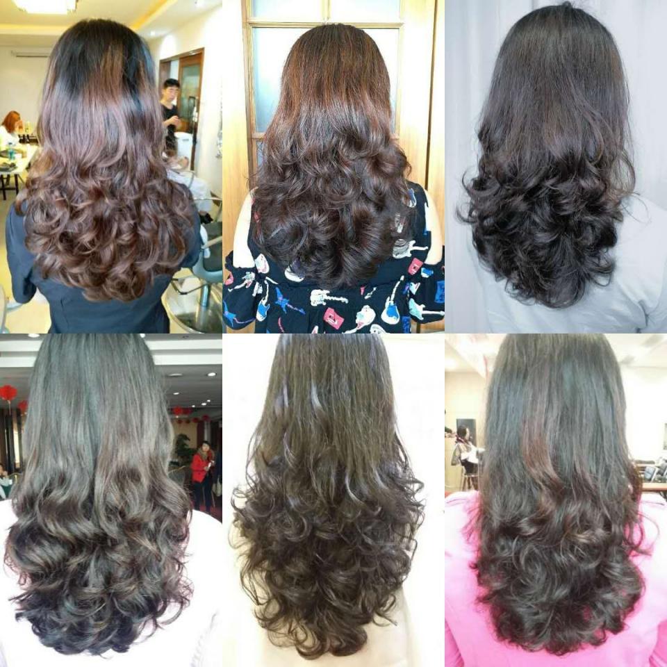 烫发四五十岁发型有图片的中卷烫发有哪些?适大全图片适合长发弹性女生圆脸短发图片