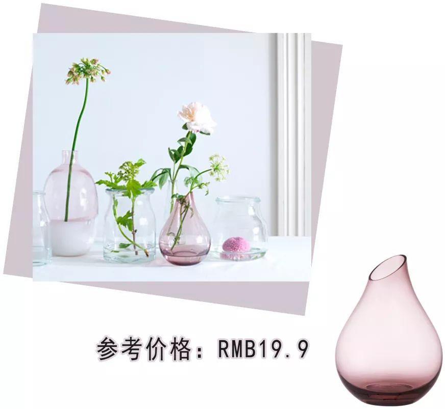 这款桑里克花瓶的造型很可爱 暗粉色的玻璃瓶有种淡淡的优雅感 我当时图片