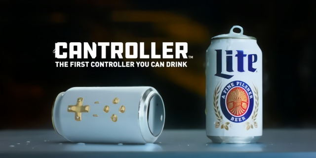 脑洞大开!罐装啤酒竟然变成游戏手柄!