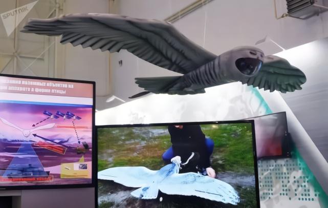 俄罗斯新型隐形无人机应用仿生设计 外形如大鸟