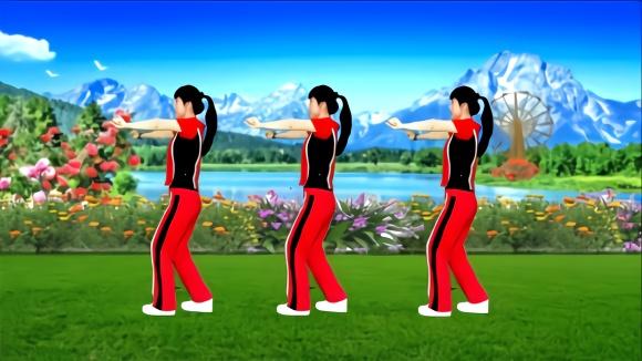 动感瘦腹健身操《雪莲》每天坚持30分钟,甩脂v动感又燃脂粉红豹图片