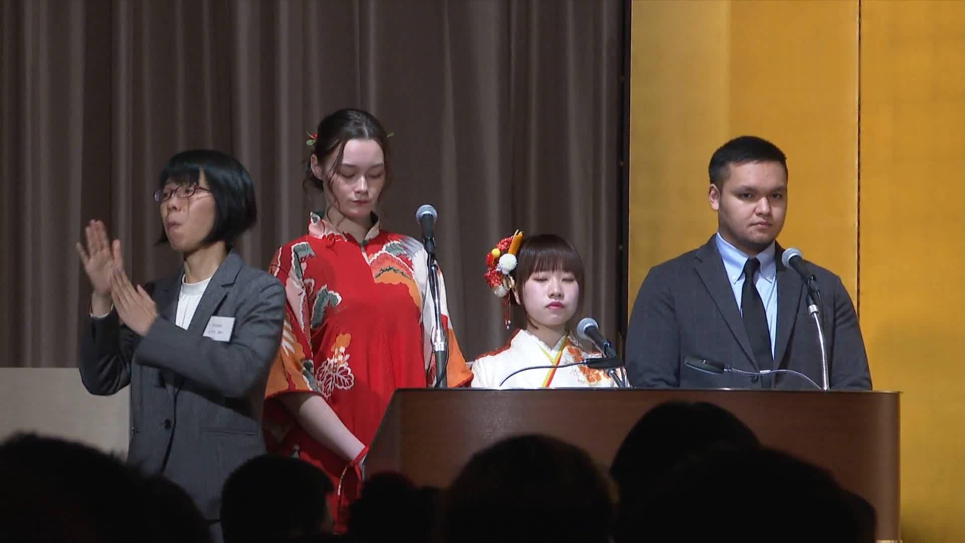 """中国留学生体验日本""""成人式"""""""