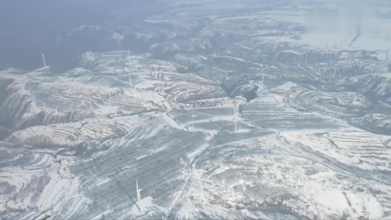 大美神州·黄土高原的雪色浪漫