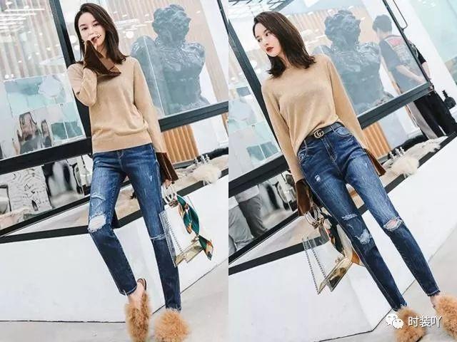春季很流行的纯色毛衣,搭配各种裤子,助你时髦与温度统统拥有!