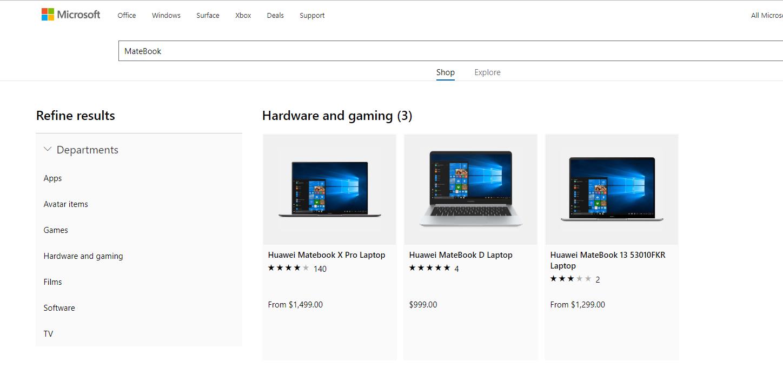 微软网站重新恢复销售华为笔记本 专家称迫于同行竞争压力 科技 热图2